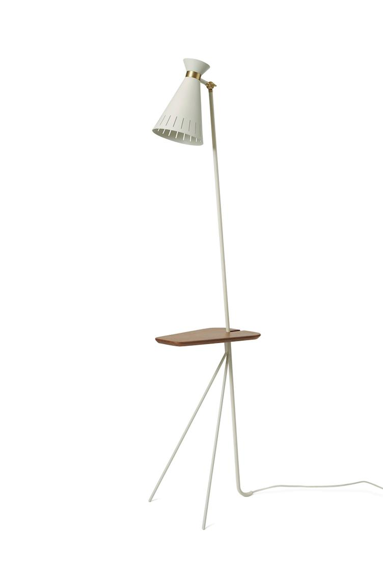 Cone | floor lamp with table - 0