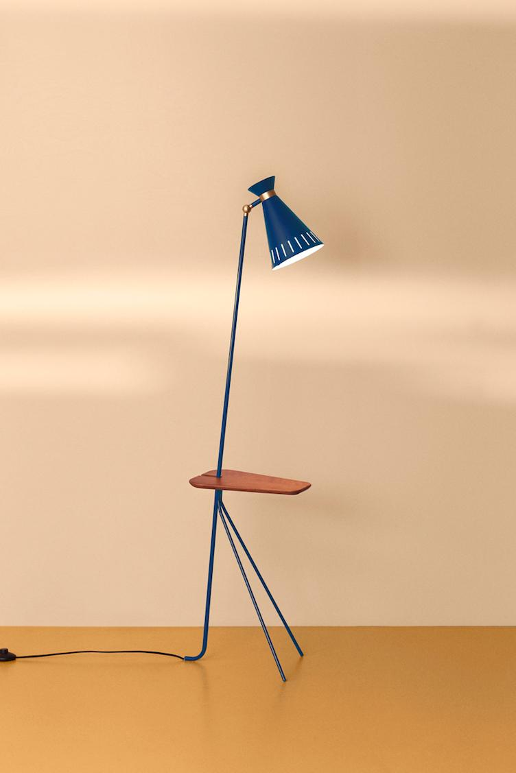 Cone | floor lamp with table - 3
