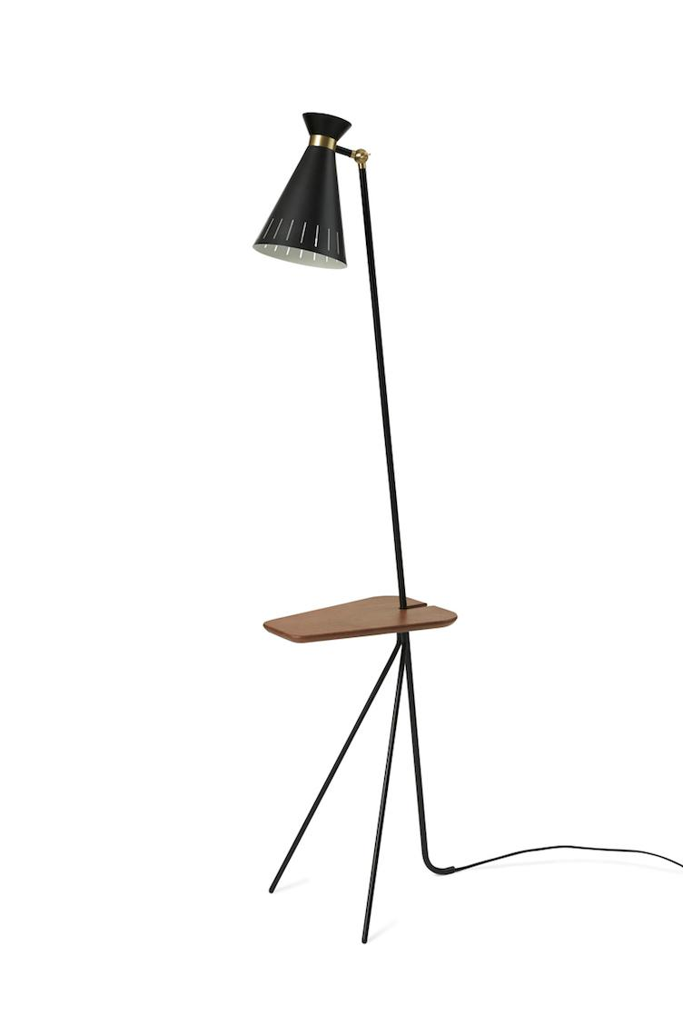 Cone | floor lamp with table - 2