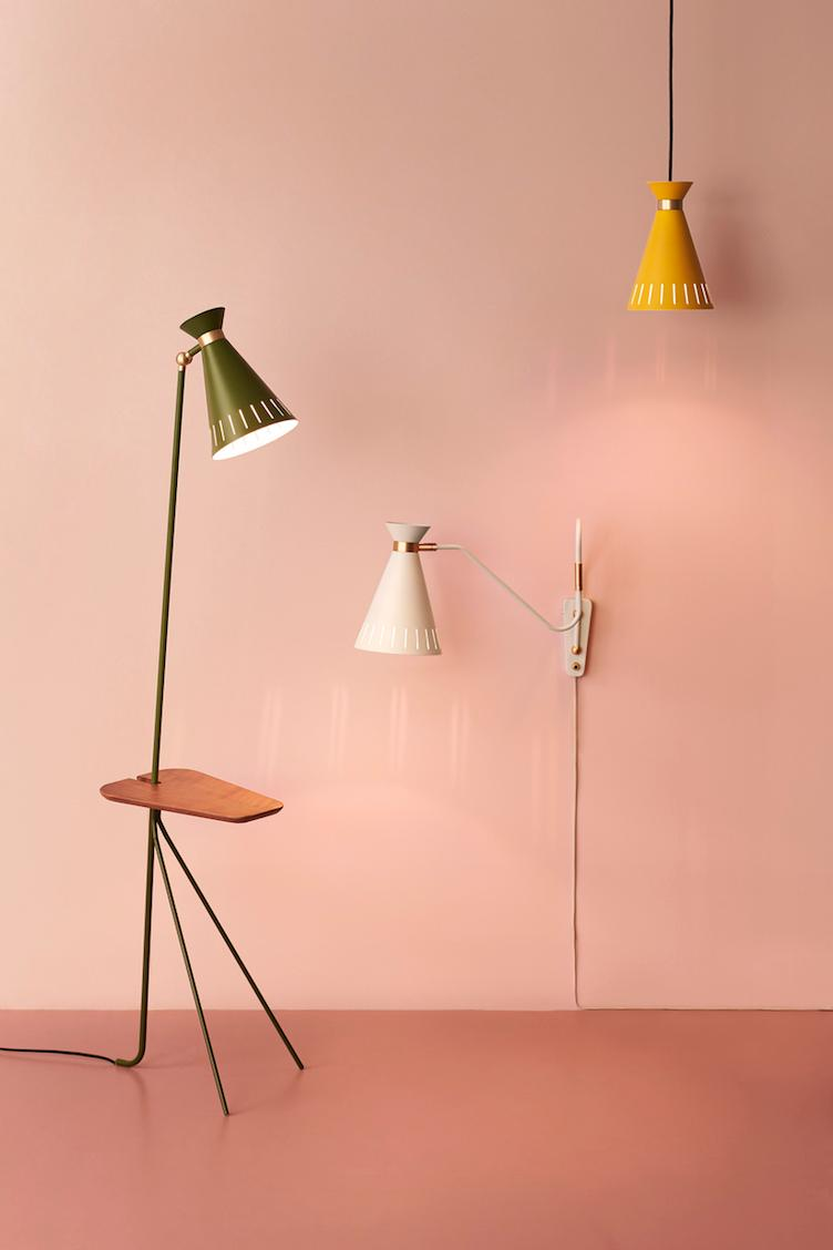 Cone | floor lamp with table - 4